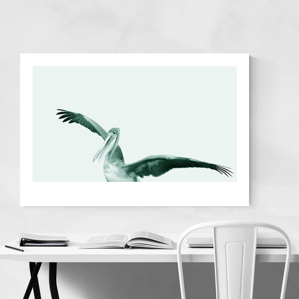 Minimal Pelican Bird Animal Nautical Art Print