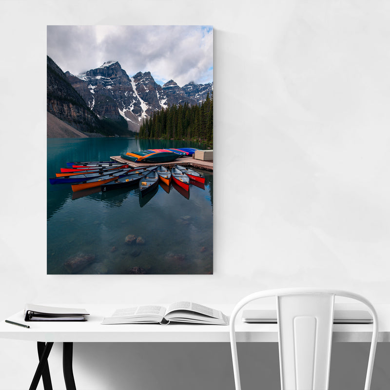 Banff Moraine Lake Nature Photo Art Print