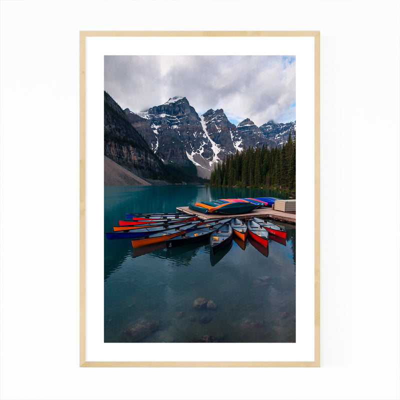 Banff Moraine Lake Nature Photo Framed Art Print