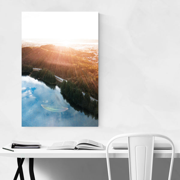 Haugesund Norway Aerial Lake Photo Art Print
