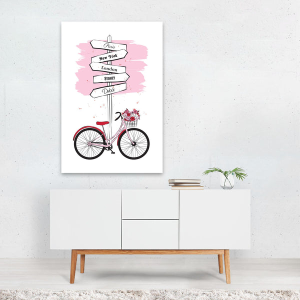 Floral/Botanical Fashion Cycling Art Print