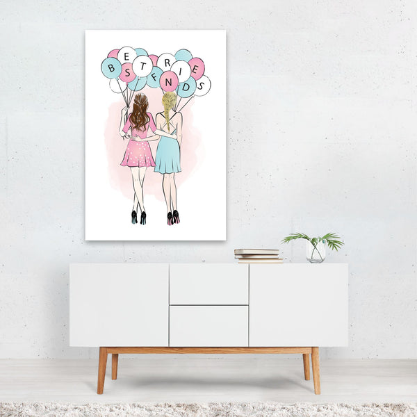 Feminine Fashion People Figurative Art Print