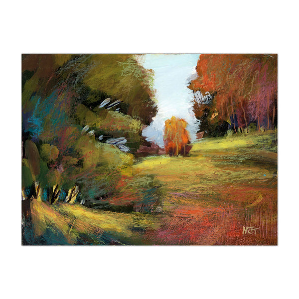 Abstract Forest Nature Painting Art Print