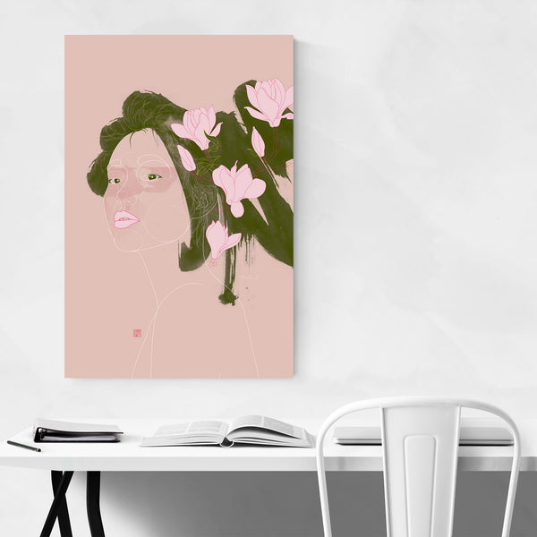 Mulan Magnolia Chinese Illustration Art Print
