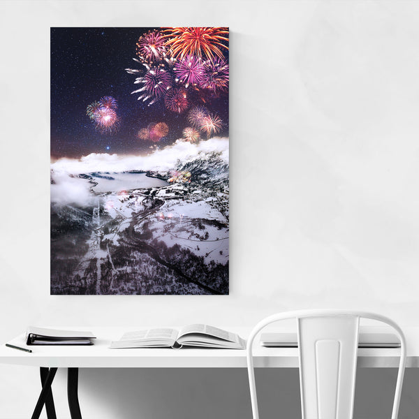 Fireworks Nature Norway Photo Art Print