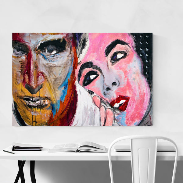 Paul Newman Elizabeth Taylor TV Movies Art Print