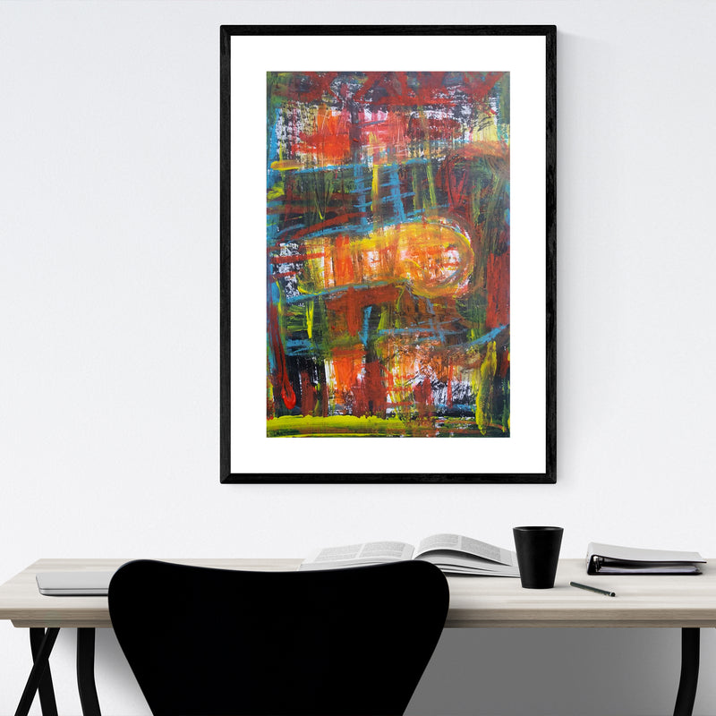 Abstract Expressionist Painting  Framed Art Print