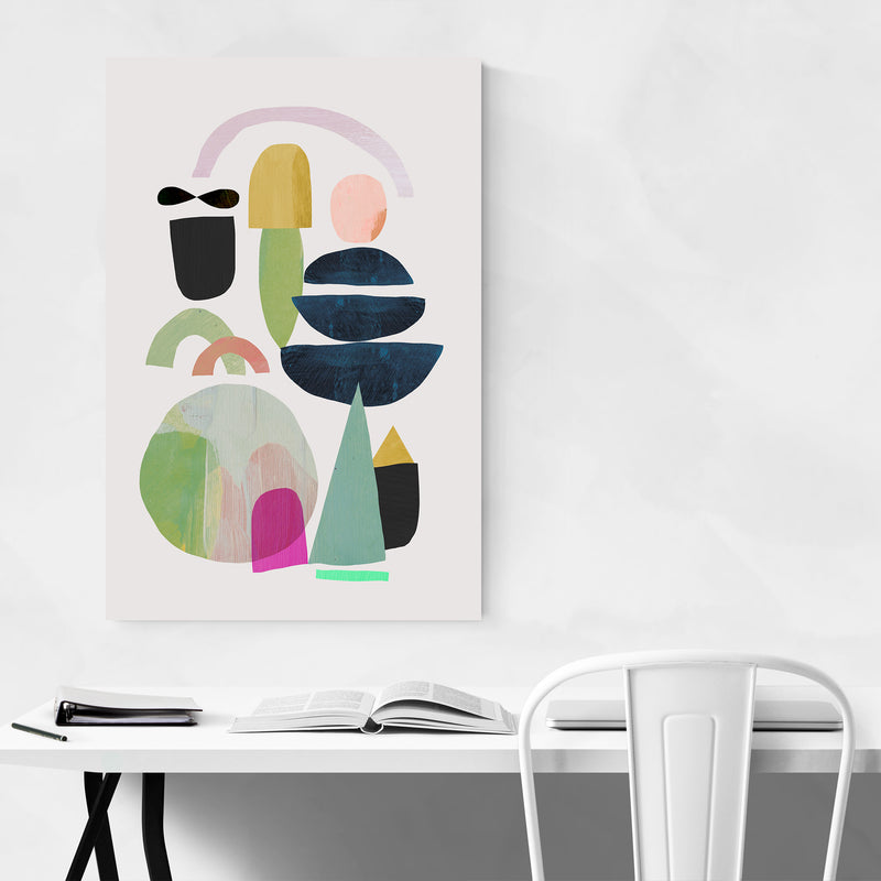 Nordic Abstract Minimal Collage Art Print
