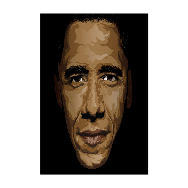 Barack Obama Portrait Art Print