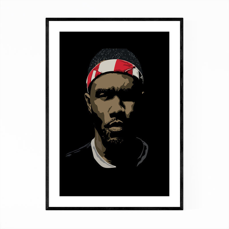 Frank Ocean R&B Music Portrait Framed Art Print