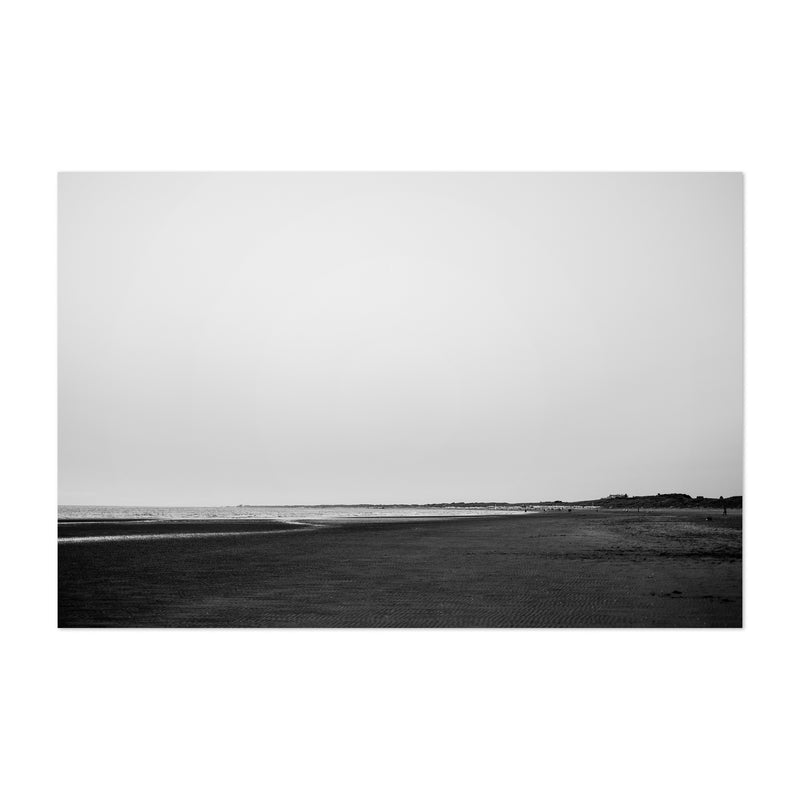Black & White Beach Coastal Art Print