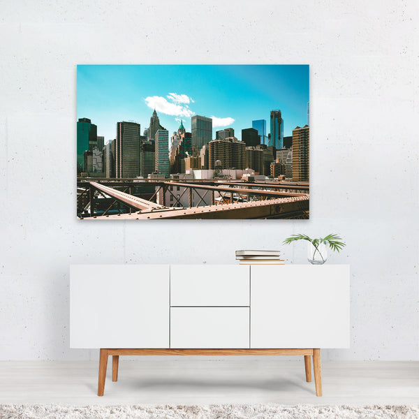 New York Brooklyn Bridge Urban Photo Art Print