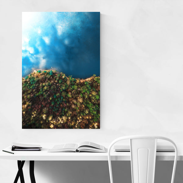 Lake Aerial Photography Norway Art Print
