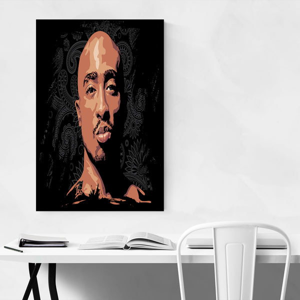 Tupac Shakur Portrait Rap Music Art Print