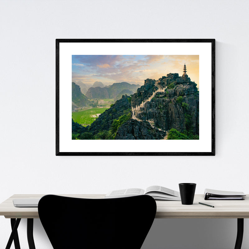 Tam Coc Vietnam Architecture Photo Framed Art Print