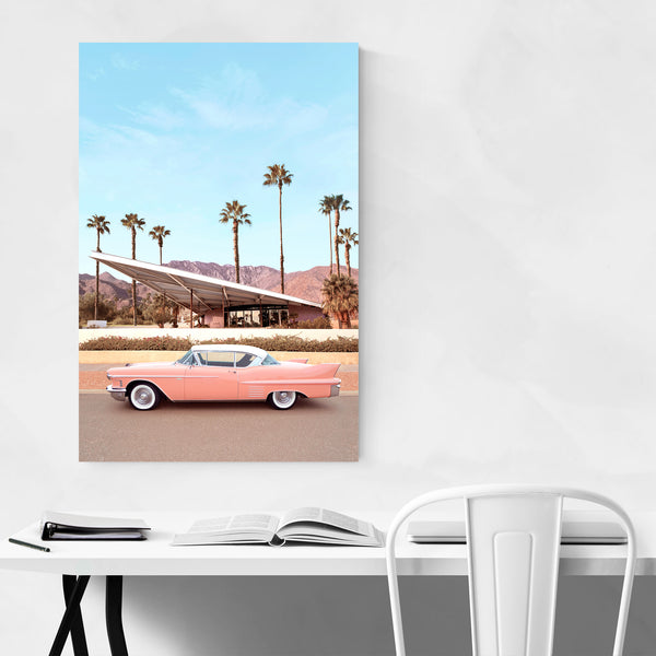 Palm Springs Architecture Car Art Print