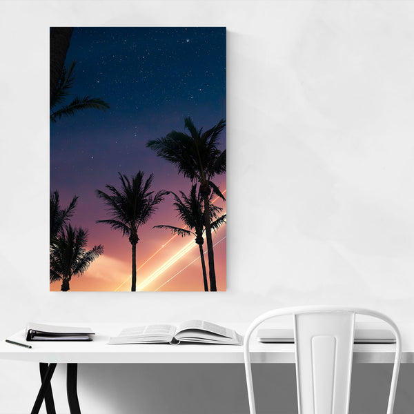 Palm Trees Coastal Miami Beach Art Print