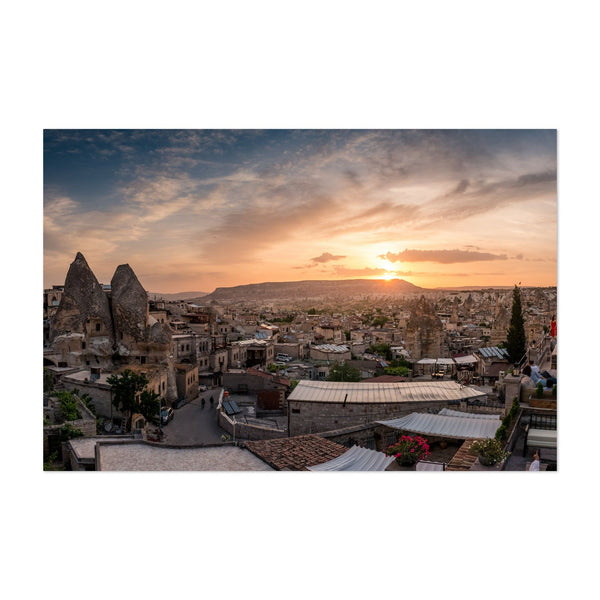 Göreme Turkey Cityscape Nature Photo Art Print