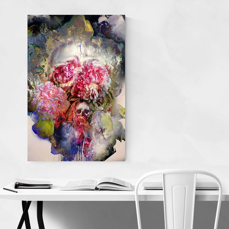 Abstract Floral Botanical Collage Art Print