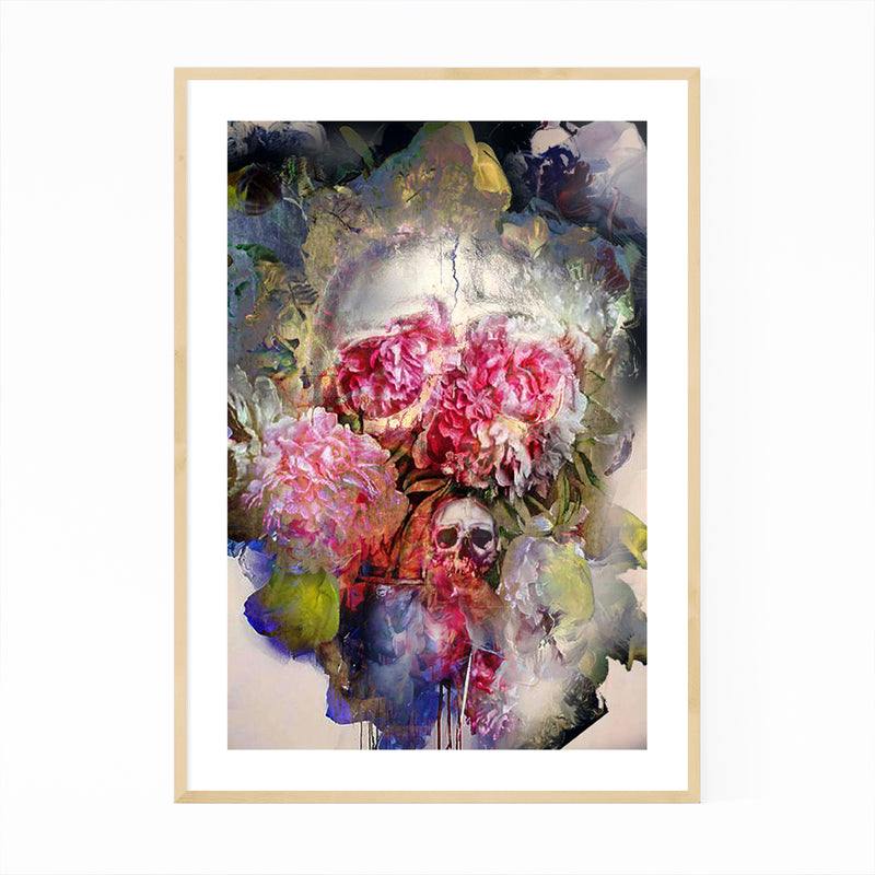 Abstract Floral Botanical Collage Framed Art Print
