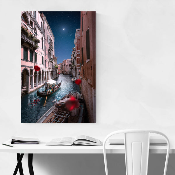 Venice Italy Canal Gondola Photo Art Print