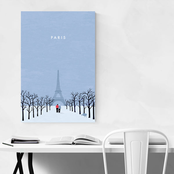 Paris France Vintage Travel Art Print