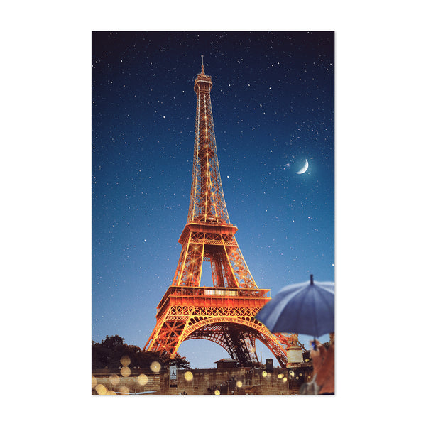 Paris France Eiffel Tower Photo Art Print