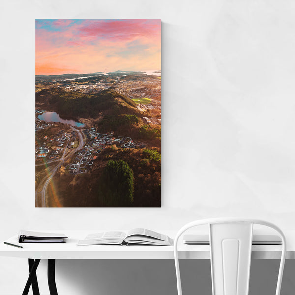 Haugesund Norway Aerial Photo Art Print