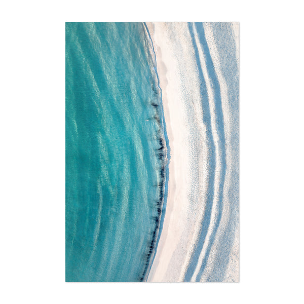 Akra Norway Beach Aerial Photo Art Print