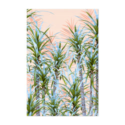 Pastel Palm Trees Coastal Art Print