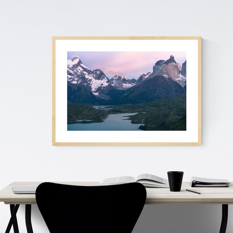 Torres del Paine Patagonia Nature Framed Art Print