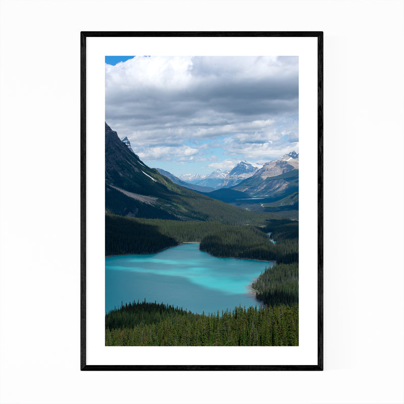 Peyto Lake Banff Alberta Photo Framed Art Print