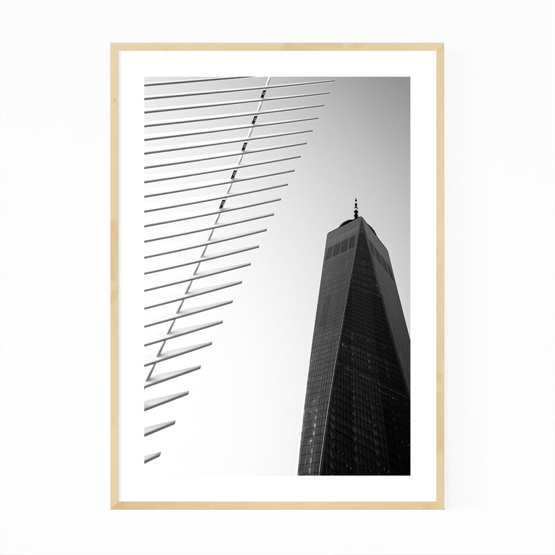 Oculus Modern Architecture NYC Framed Art Print