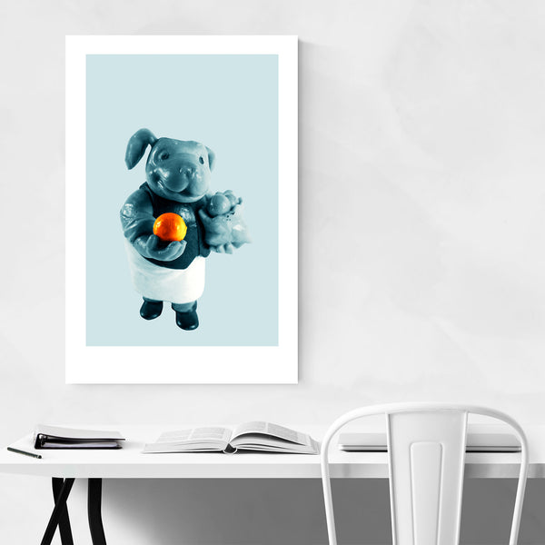 Minimal Humor Toy Dog Art Print