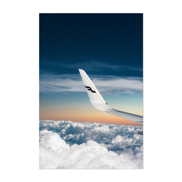 Plane Aircraft Aerial Wing Nature Art Print
