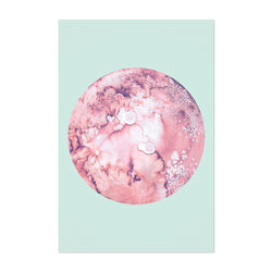 Abstract Moon Watercolor Painting Art Print