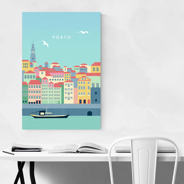 Porto Portugal Vintage Travel Art Print
