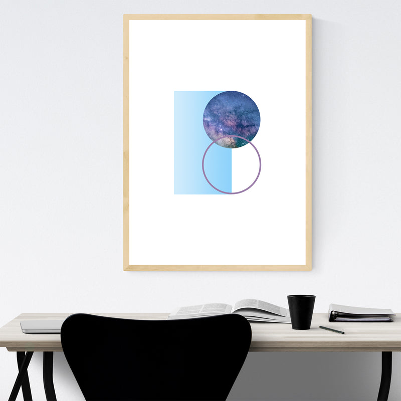 Abstract Geometric Nature Modern Framed Art Print