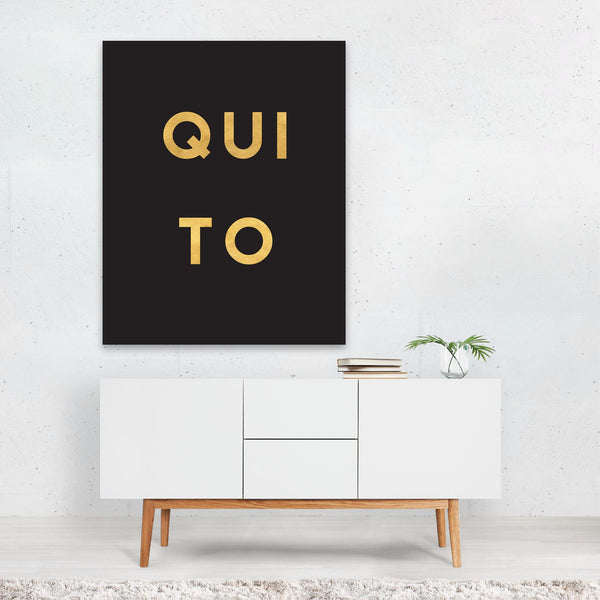 Quito Ecuador Urban Typography Art Print