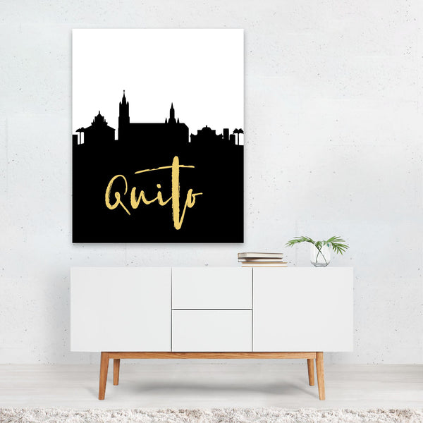 Quito Ecuador Skyline Art Print