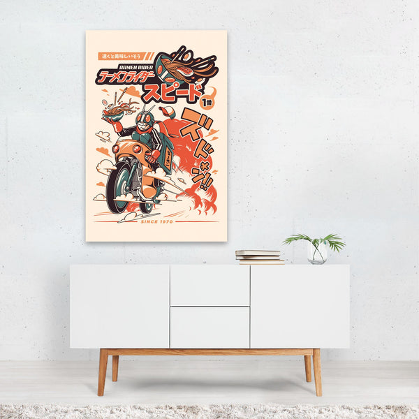 Kitchen Ramen Motorcycle Illustration Art Print