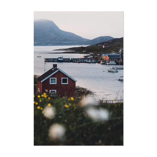 Repvag Norway Harbor House Art Print