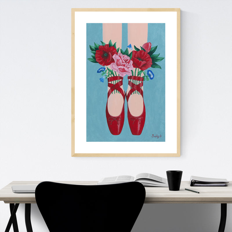 Fashion Women Floral Botanical Framed Art Print