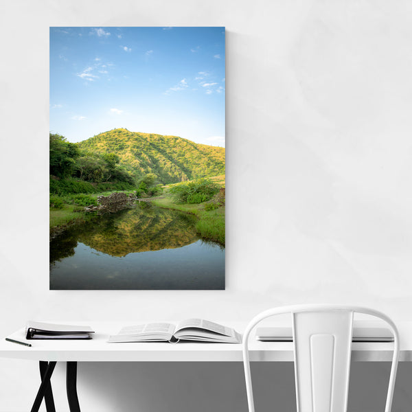 Reflection Hill Nature Mountain Lake Art Print