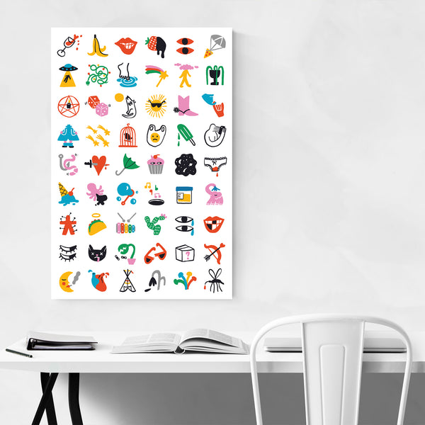Feminist Symbols Illustration  Art Print