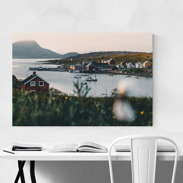 Repvag Norway Harbor Arctic Art Print