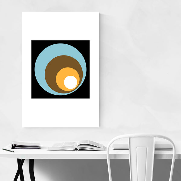 Geometric Retro Circles Abstract Art Print