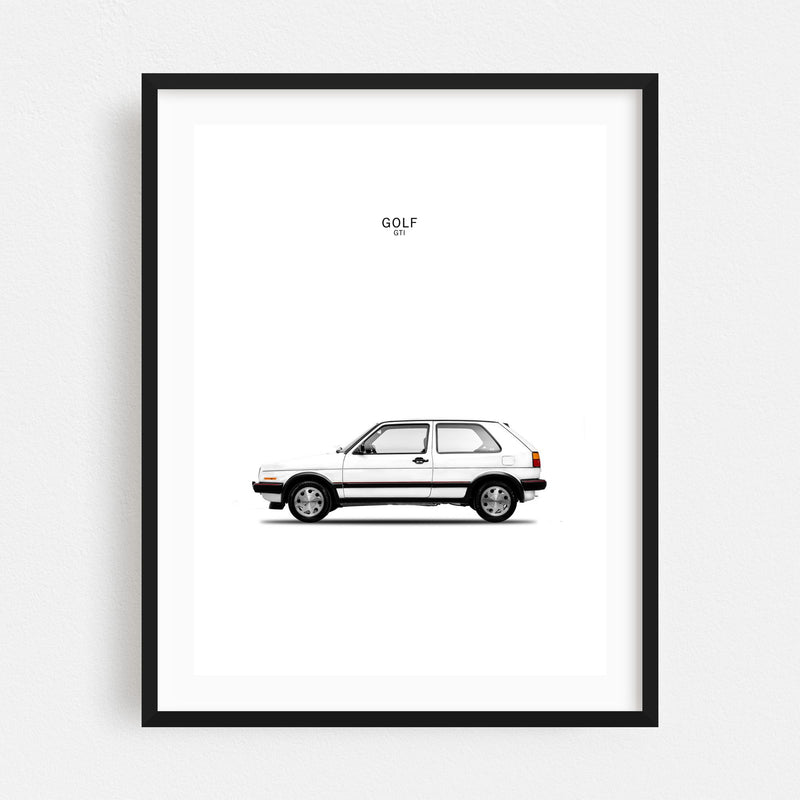 Golf Volkswagen Golf GTI Volkswagen Framed Art Print