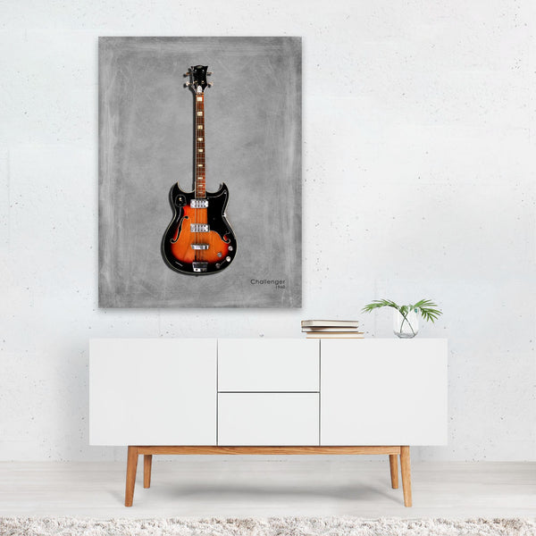 Music Guitar Vox Challenger Bass Art Print