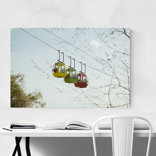 Cable Car Udaipur India Art Print